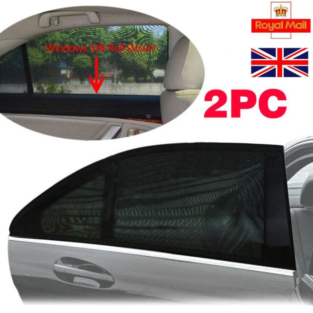 972b1410fbbb 2x Black Car Rear Window UV Mesh Sun Shades Blind Kids Children Sunshade  Blocker