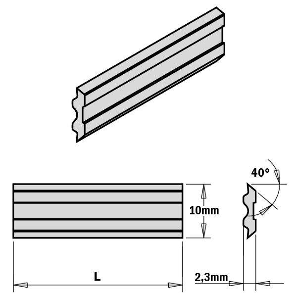 CMT einige Messer für Hobel für Zeuge Messer - Systeme Tersa 795.10