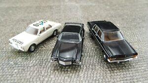 Ford-Taunus-Polizei-Camaro-schwarz-Opel-KAD-schwarz-Brekina-1-87-DG206-DG208