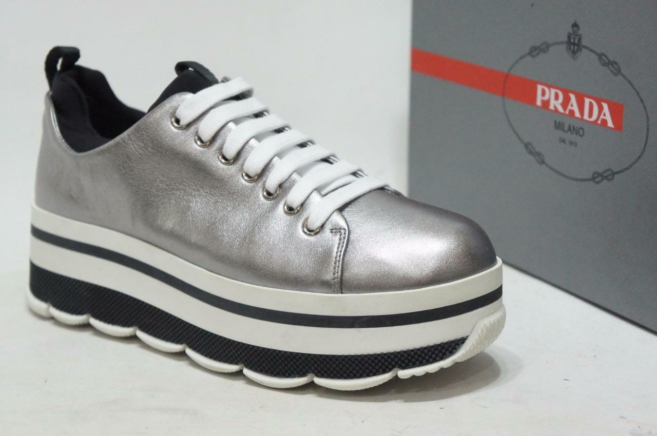 PRADA WAVE HIGH SPORT SNEAKERS SHOES 39.5 9.5  790