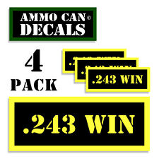 243 WIN Ammo Can Label 4x Ammunition Case stickers decals 4 pack YW MINI 1.5in