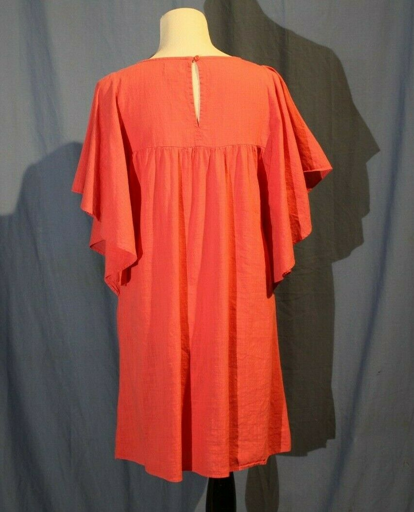 Old Navy, Large Hot Pink Butterfly Sleeve Dress w… - image 3