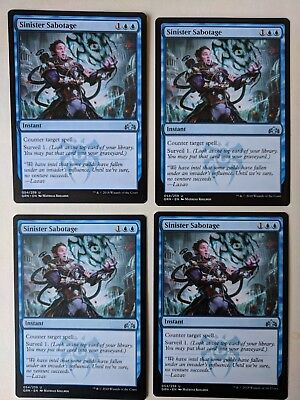 MTG Uncommon Guilds of Ravnica Sinister Sabotage x4 M//NM