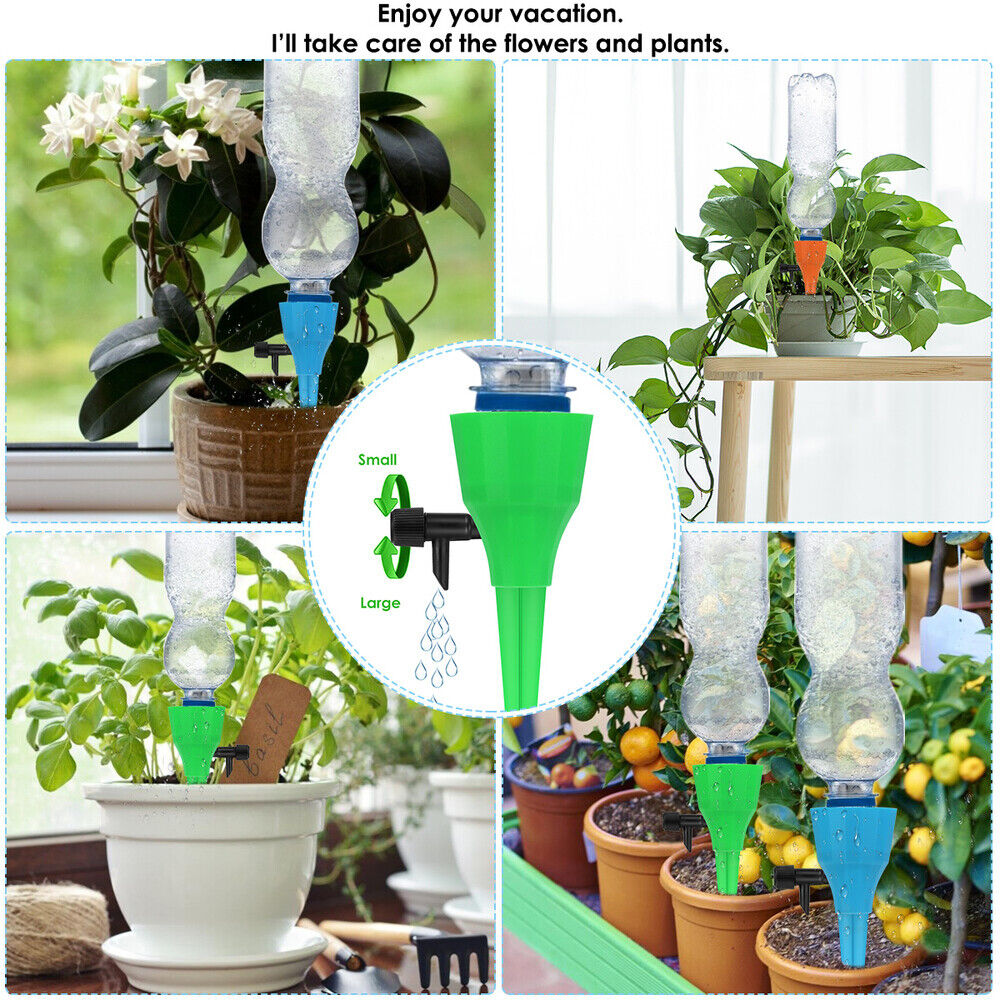 12Pcs Automatic Watering Device Garden Plants Self Water Drip Irrigation System
