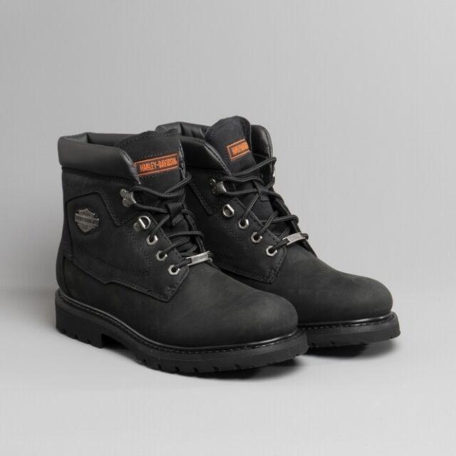 d270d815cf7 Harley Davidson BADLANDS Mens Leather Lace Up Biker Boots Black D991005