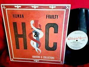 HUNTERS & COLLECTORS Human frailty LP 1986 AUSTRALIA MINT- First Pressing