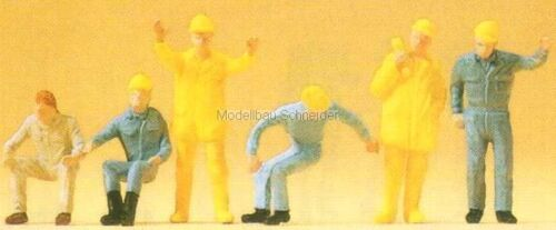 H0 Preiser 14128 Autokran-Personal Figuren OVP
