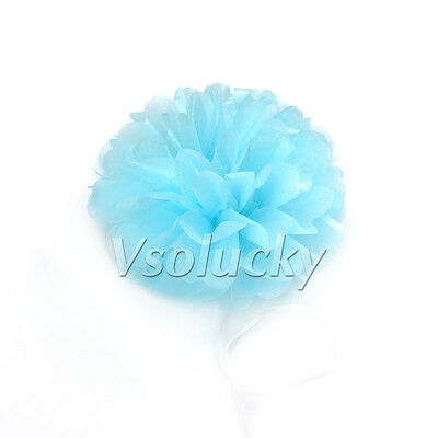 "10 Tissue Paper Pom Poms Flower Ball Wedding Party Xmas Decoration 6""/8""/10""/15"""