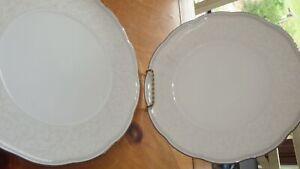 "NORITAKE Hermitage Salad Plates Fine Bone China  4 8 3/8"" scalloped rim 9740"