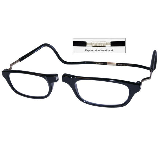5540c5d97f71 CliC Snap Reading Glasses XXL Neck Hanging Magnetic Black 1.50 for sale  online