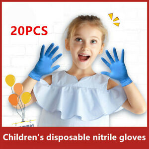 Extra Small NITRILE Gloves latex/&powder free Ideal for Kids Children Glove 20PCS