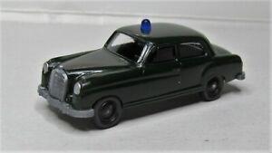 Wiking-1-87-Mercedes-Benz-180-Ponton-Polizei-Streifenwagen