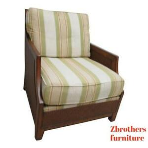 Details about Thomasville Woven Wicker Living Room Lounge Chair