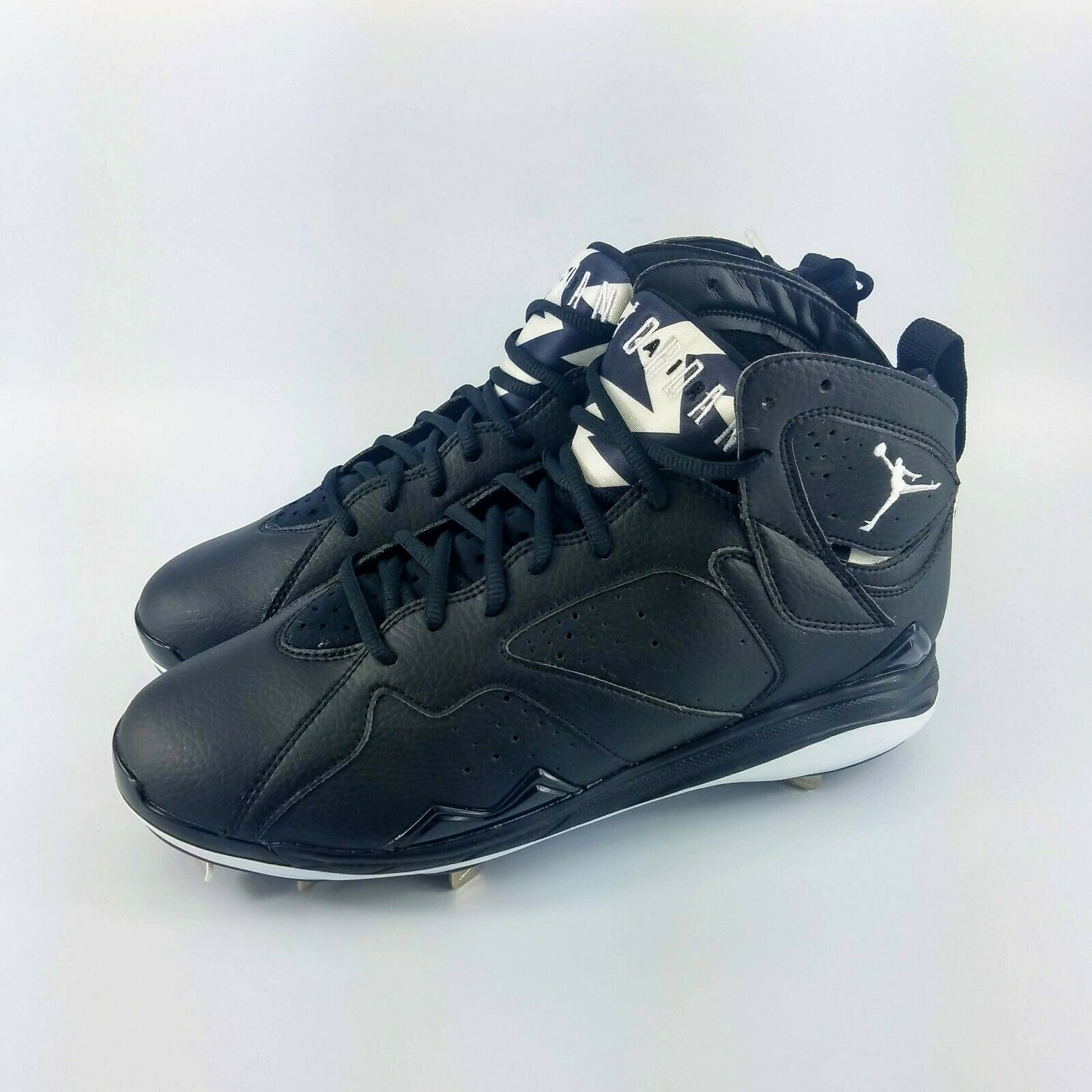 Nike Air Jordan Retro 7 Baseball Metal Cleats - Black  - 684943-010 - Size 10.5