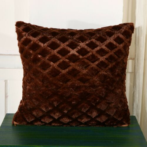 Diamond Pattern Soft Touch Cushion Covers Cases Decorative Scatter Pillow Plush