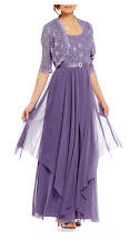 Women's Plus Size Dresses 20 W Long Sleeves Jacket Mother of The Bride R&M