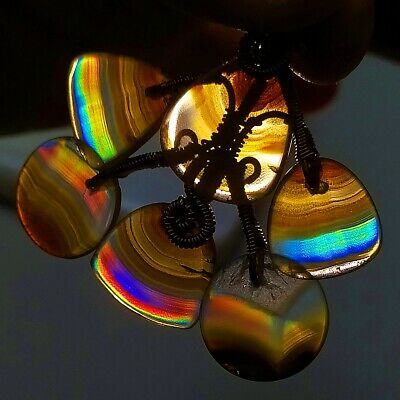 11ct /'A/' Grade Rainbow IRIS AGATE ~Multi-Color Fire~ 1-of-a-kind ~100/% Natural