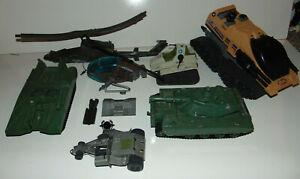 GI-Joe-1980s-VINTAGE-Vehicle-Plane-Lot-Mattel-RAIDER-TANK-Slaughter-80-039-s