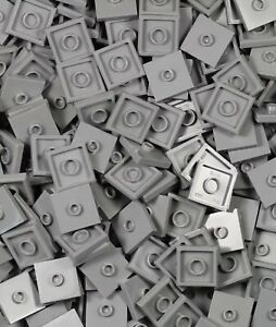 Smooth Surface Building Floor Parts Lego 50 Pieces Light Bluish Gray 2x2 Tile