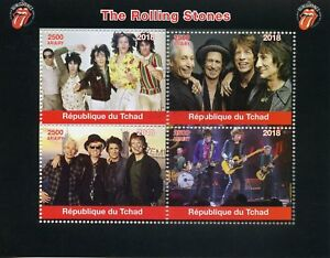 Chad-2018-CTO-Rolling-Stones-Mick-Jagger-Keith-Richards-4v-M-S-Music-Stamps