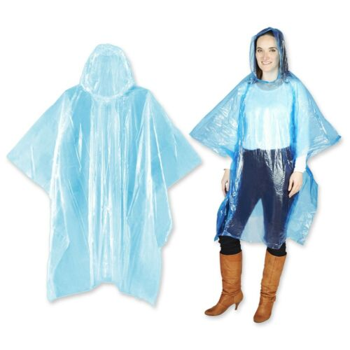 WATERPROOF PONCHO Walking Hiking Camping Emergency Hood Rain Splash Coat Mac UK
