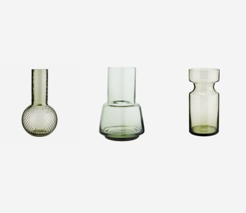 Antique Style Botanical Green Glass Bottle Bud Vase Decorative Vintage Wedding