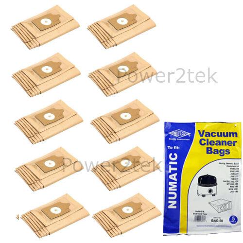 NVM1C//2 hoover sacs pour aspirateur numatic henry extra henry HVR200 henry HVR20 50 x NVM1B