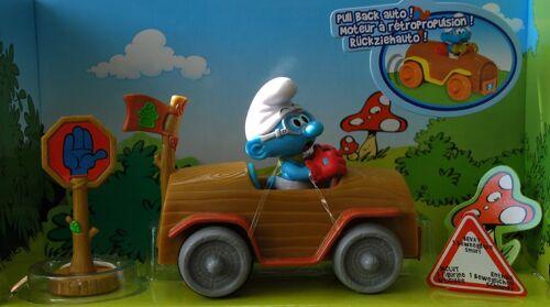 Die Schlümpfe Schlumpf Figur im Auto Rückziehauto Rennfahrer