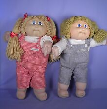 Lot of  2 HTF Vintage Cabbage Patch Dolls SCARCE 1983 Hong Kong Original Clothes