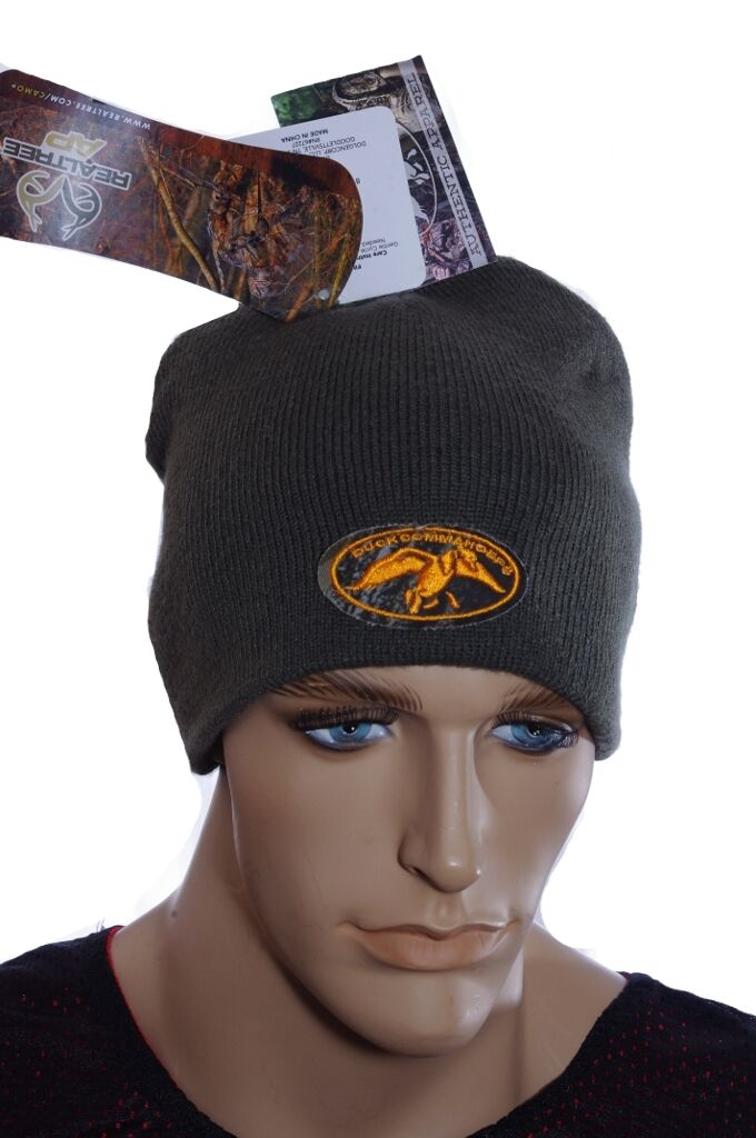 Mens Adult Winter Realtree AP Duck Commander Beanie Orange Hat Winter Adult Stocking Cap NEW 3e9ff9
