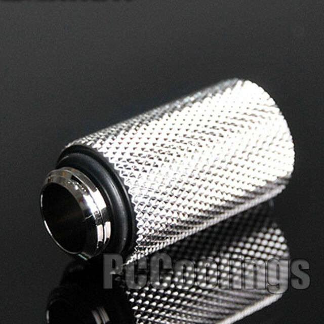 30mm Fitting Extender F To M G1/4 Thread Chromed Copper For PC Liquid Cooling