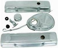 Small Block 350 Chevy Chrome Steel Dress Up Kit Tall Valve Covers