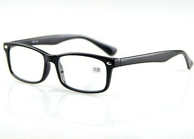 Classic Fashionable Style Mens Black Frame Reading Glasses Readers +1.0 - +4.0