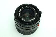6-bit coded Leica Summicron-M 35mm f/2 aspherical ASPH lens w/ hood & case M10