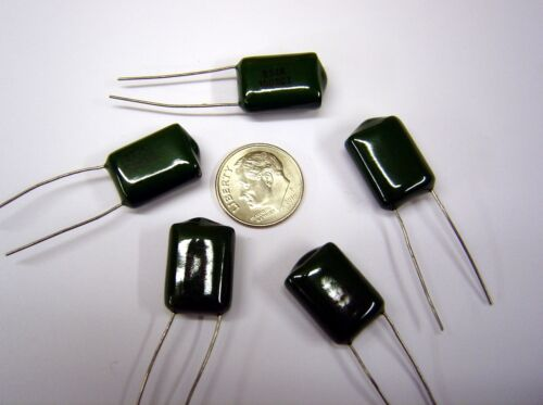 LOT OF 25 .33uF 100v METALLIZED POLY-FILM CAPACITOR 330000pf