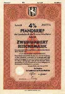 Westdeutsche-Landesbank-Bank-der-Provinz-Westfalen-Muenster-Anleihe-1942-WestLb