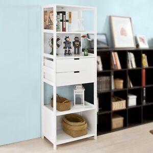 sobuy biblioth que meuble colonne salle de bain armoire toilette frg182 w fr ebay. Black Bedroom Furniture Sets. Home Design Ideas