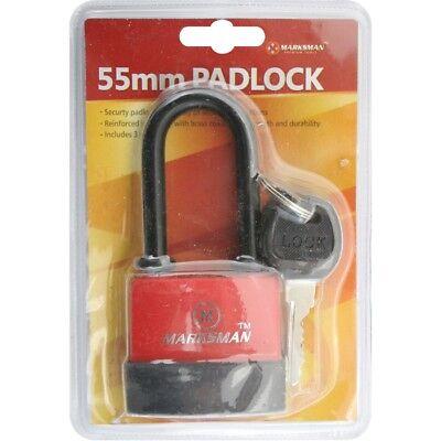 55mm Waterproof Padlock Waterproof Heavy Duty Steel Shackle Security Antitheft Uitstekende Kwaliteit