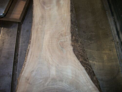 "1 PC HIGHLY FIGURED WALNUT LUMBER WOOD AIR DRIED BOARD 1 34"" SLAB LOT 958A"