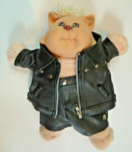 Koosas-Cat-Cabbage-Patch-Kids-Custom-Biker-Doll-Customized-OOAK-Leather-Harley