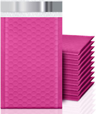 4x8 50 Pack Bubble Mailers Small Durable Padded Envelopes Hot Pink Shipping