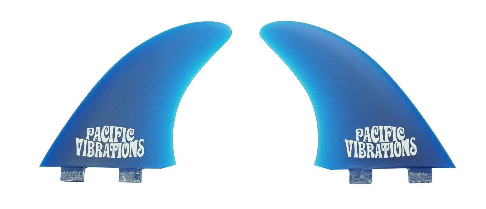 Sistema de control de las vibraciones de la sensación del Pacífico AMT Alfa Twin Fin Tabla De Surf Aletas De Fibra De Vidrio Azul