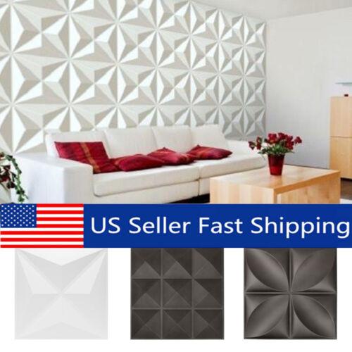 12Pcs 32sqft 3D Diamond Wall Panel EcoFriendly Paintable Home Background