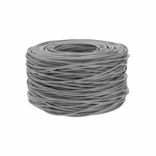 1000FT CAT5E Solid Bare Copper Wire Bulk Ethernet Network LAN Cable RJ45 Gray
