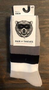 PAIR-OF-THIEVES-NWT-Men-039-s-3-Pair-Crew-Socks-Moisture-Wicking-Size-8-12