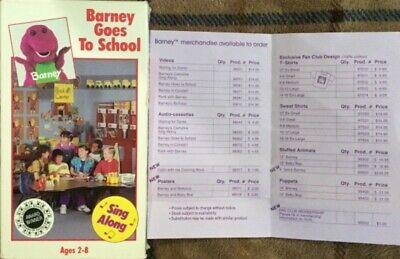 Barney And The Backyard Gang Barney Goes To School VHS ...