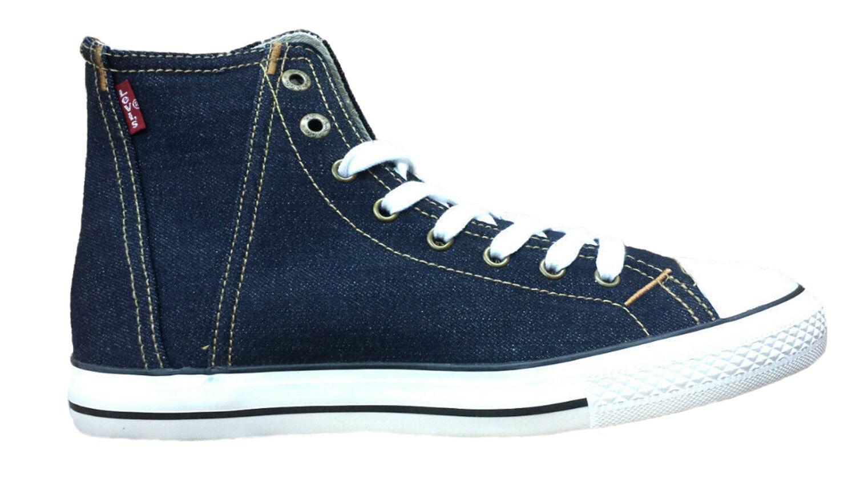 Da Uomo Levis Denim Hi Hi Hi Top Fashion Stivali Stile 223278-Indaco blu denim Scarpe classiche da uomo 3393fb