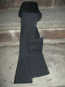 Details about REENACTOR 18TH C REV F&I WAR COLONIAL MENS BLACK NECK STOCK  TIE LINEN NEW BOW