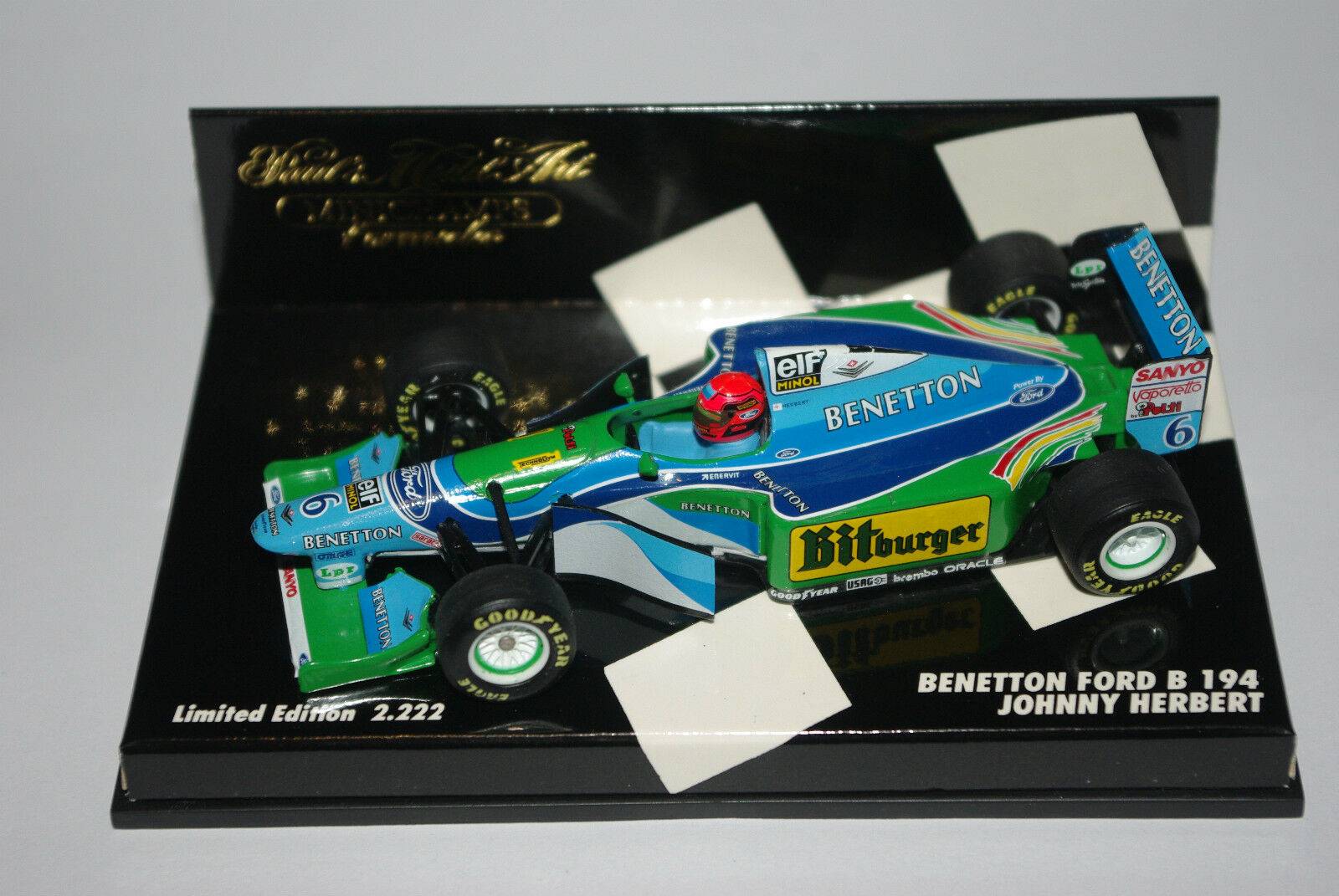 Minichamps F1 1 43 BENETTON FORD B194 JOHNNY HERBERT 2222pcs