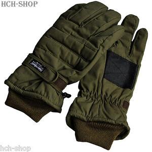 Thermo-Handschuhe-Fingerhandschuhe-Thinsulate-Classic-Comfort-S-M-L-XL-XXL-oliv